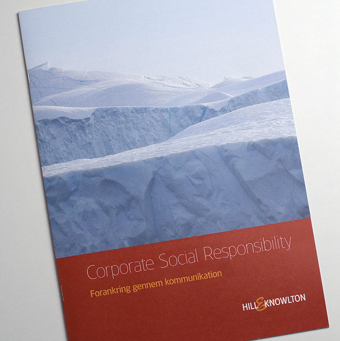 CSR brochure for Hill&Knowlton