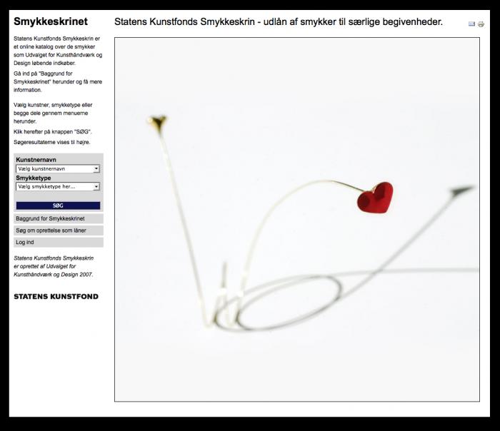 Statens Kunstfonds Smykkeskrin